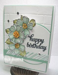 """Mint Birthday Blossoms & Tin of Cards for """"happy birthday"""""""