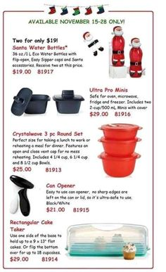 Tupperware Nov. Sale Prices Good Until Nov 28, 2014. Super Great deals. Visit my site or message me your order direct or call me 843-222-6544 When ordering through me direct you can pay with cc or debit, cash, Paypal. Just message me your email address for a Paypal invoice. I ship worldwide. My web site is http://debratoddjordan.my.tupperware.com/  My blog page https://debratoddjordan.wordpress.com/  Facebook page is…