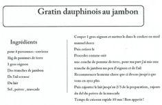 Gratin dauphinois au jambon