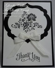 handmade card ... black and white ... clean and simple design ... layered labels nestlit ,,, sweet double loop bow ... fun font in the sentiment ... lovely card ...Stampin' Up!