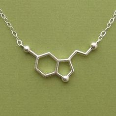 serotonin molecule necklace for happiness. haha love it
