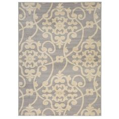 Harper Gray Scroll Area Rug, 8x11 ($200) ❤ liked on Polyvore featuring home, rugs, grey patterned rug, grey area rug, gray area rug, polypropylene area rugs and olefin rug