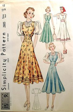 1930s vintage sewing pattern by wondertrading, via Flickr