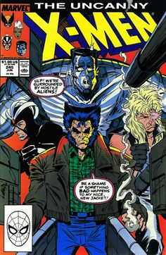 the Uncanny X-Men (vol.1) #245 by Rob Liefeld & Tom Orzechowski #Wolverine #Jacket