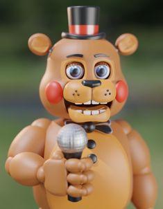 """the-endos-cove: """"A Toy Freddy render! Freddy Toys, Fnaf Freddy, Freddy Fazbear, Fnaf 1, Anime Fnaf, Chris Rodriguez, Fnaf Jumpscares, Legos, Red Spider Lily"""