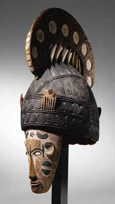 Africa | Maiden Spirit mask from the Ibo people of Nigeria | Wood and pigment | ca.  mid 1900s