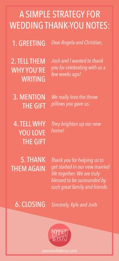A simple strategy for writing wedding thank you notes | How to word wedding thank you notes