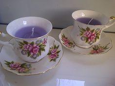 DIY Candle in grandma teacup (tutotial in Dutch)