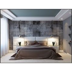 The most beautiful living room decoration ideas – Fashion, Home decorating Bedroom False Ceiling Design, Bedroom Ceiling, Bedroom Decor, False Ceiling Ideas, Bedroom Furniture, Home Interior, Interior Design Living Room, Hotel Inspired Bedroom, Modern Bedroom