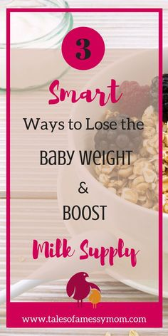 3 smart ways to lose the baby weight while boosting your milk supply. http://www.talesofamessymom.com