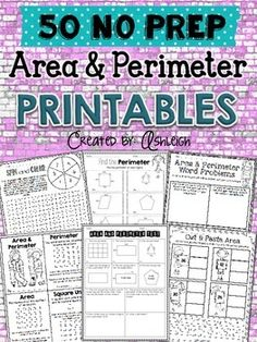All you have to do is print, and you're ready to go! These perimeter and area printables are a great way to supplement your existing math curriculum.  This includes interactive worksheets, games, word problems, and more! Math Teacher, Math Classroom, Teaching Math, Future Classroom, Teaching Ideas, Classroom Ideas, Fourth Grade Math, Second Grade Math, Math Help