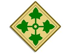 4th Infantry Division, Seal Logo, Army Patches, Army Wallpaper, Custom Metal, Diamond Shapes, Metal Art, Vinyl Decals