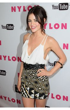 Lucy Hale wearing House of Harlow 1960