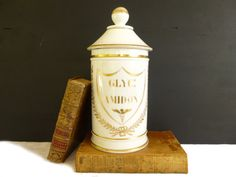 Antique 19th french pharmacy large jar of by LeGrenierDeFrancine