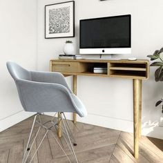 Scandic Oak Small Computer Desk - Only Oak Furniture - Sale On Now