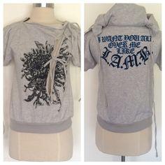 "Spotted while shopping on Poshmark: ""NWT LAMB Gwen Stefani flower wrap hoodie XS""! #poshmark #fashion #shopping #style #L.A.M.B. #Sweaters"