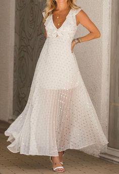 White Dress, Dresses, Fashion, Women's, Vestidos, Feminine Fashion, Women, Moda, Fashion Styles