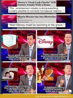 Colbert Report. What's with two mommies?