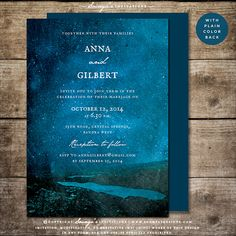 Mountain Forest Wedding Invitation