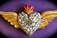Mexican heart with wings ©Mexico Import Arts