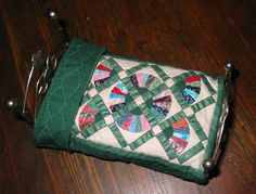 Dollhouse Miniature Quilt  Green Fan Quilt by HandworksByLorre on Etsy