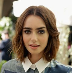 Short layers for Spring - Lily Collins