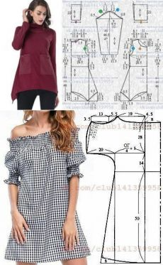 El aumento fácil para un verano por el par de horas Easy Sewing Patterns, Dress Patterns, Hijab Fashion, Fashion Outfits, Diy Kleidung, Quick Crochet, Creation Couture, Pattern Drafting, Fashion Sewing
