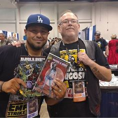 """Repost from our buddy @michael.r.martin co-creator of Blood & Dust: The Life & Undeath of Judd Glenny from #Wondercon last weekend. """"Our fans are family. I met Adrian here who knew about our story from watching @petesbasement. I'm not sure who was more excited him for finding us and the book or me when I realized he knew the plot! #Fearthefamily #BloodandDust #Comics #Horror #Vampires"""" This was such an awesome post that I had to share it with you all. It's always really great when our fans…"""