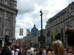 oxford street during the London oylmpics 2012