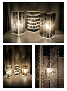 Use old negatives and a cheap lamp from Ikea to make this cool lamp