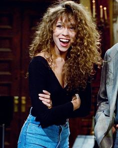 """21 Curly Bangs Hairstyle Ideas Seen on Celebs Who Refuse to .- 21 Curly Bangs Hairstyle Ideas Seen on Celebs Who Refuse to """"Tame the Mane"""" Curly Hair Styles, Curly Hair With Bangs, Natural Hair Styles, Brown Curly Hair, Wavy Hair, Curly Hair Layers, Vintage Curly Hair, Curly Blonde, Long Natural Curls"""
