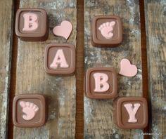 chocolade blokje geboorte meisje