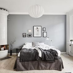 Is it Easter yet...can we stay in bed pllleeeaaasseee. I want this bedroom!! How stunning does the Vee Speers print look...Source: @stadshem