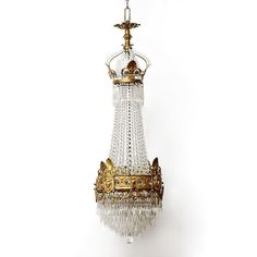 French Empire Bronze and Crystal Chandelier from piatik on Ruby Lane