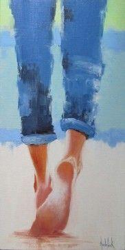 Beach Ballet, Original, Painting - contemporary - Paintings - Zatista
