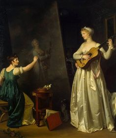 Marguerite Gérard, Artist Painting a Portrait of a Musician, c. 1803. Oil on panel. The Hermitage, St. Petersburg.