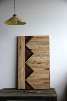 Headboards, wall art and furniture made from lath in old buildings...super cool!