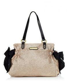 Original Juicy Couture Stardust Glitter Daydreamer Bag ~ Gold ~