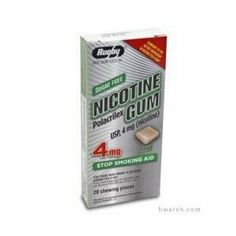 Nicotine Gum (4mg) Mint - 20 Pieces by Rugby. $13.30. For those who smoke 25 or more cigarettes a day. Sugar free. Mint flavor. Compare to active ingredient in Nicorette® Gum. Active Ingredient . Nicotine polacrilexâ¦...4mg (nicotine)â¦â¦Stop smoking aid .  . Drug Facts. If pregnant or breast feeding, only use this medicine on the advice of your health care provider.   Smoking can seriously harm your child.  Try to stop smoking without using any nicotine replacement m...