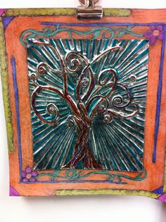 Drip, Drip, Splatter Splash blog: great post for tooling foil art with border. Includes tips for cutting foil from roll, border, texturing.