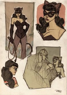 Rockabilly Catwoman concept Denis Medri Denis rocks my face off. This is by far and away the best Catwoman ever. Batgirl, Batman And Catwoman, Batman Robin, Gotham Batman, Batman Art, Batman Painting, Gotham Girls, Joker, Cosplay Gatúbela
