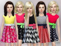 The Sims Resource: Designer Dresses Collection P27 by lillka • Sims 4 Downloads