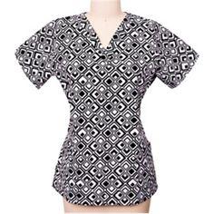 Scrub Works Women's V-Neck Print Top | allheart.com