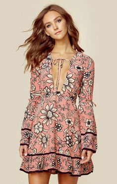 For Love And Lemons New Bohemian Clothes Ayla Plunging Dress