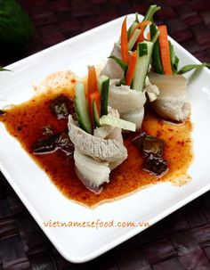 Rolled Pork with Vegetables and Tamarind Sauce (Heo Cuộn Rau Củ và Sốt Me) from http://www.vietnamesefood.com.vn/vietnamese-recipes/vietnamese-pork-recipes/rolled-pork-with-vegetables-and-tamarind-sauce-heo-cuon-rau-cu-va-sot-me.html