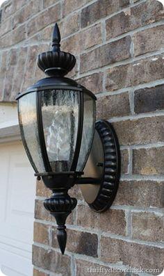 Spray painting outdoor lights it works spray painting outdoor spray painting light fixtures workwithnaturefo