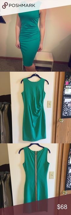 Kenneth Cole New York NWT Kenneth Cole New York NWT - brand new! Beautiful green color. Size 2 (runs bigger so would also fit a size 4) Kenneth Cole Dresses
