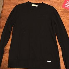 Size Large Michael by Michael Kors black Large Michael by Michael Kors black long sleeve sweater MICHAEL Michael Kors Sweaters Crew & Scoop Necks