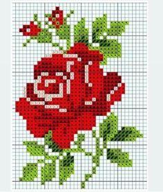 Cross Stitch Cards, Cross Stitch Rose, Cross Stitch Borders, Cross Stitch Flowers, Counted Cross Stitch Patterns, Cross Stitching, Cross Stitch Embroidery, Pixel Crochet, Wedding Cross Stitch