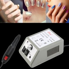 Professional Home Easy Electric Nail Drill Machine Manicure File Drill Bits Sanding Band Accessory Salon Nail Tools US Plug, Gray Nail Drill Machine, Pedicure Tools, Manicure, Nails, Nail File, Tool Set, Usb Flash Drive, Salons, Health And Beauty